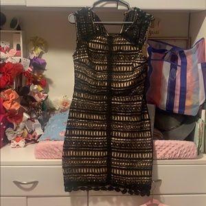 Black & Nude dress